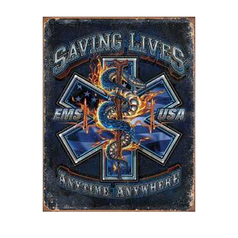 U.S. EMS Saving Lives Tin Sign