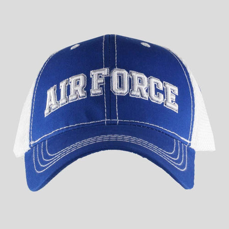 United States Air Force Blue on White Mesh Cap