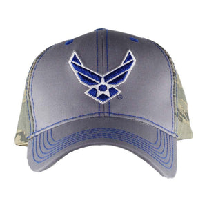 United States Air Force Cap - Grey on Camo