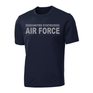 United States Air Force Stripe Full Front on Performance T-Shirt