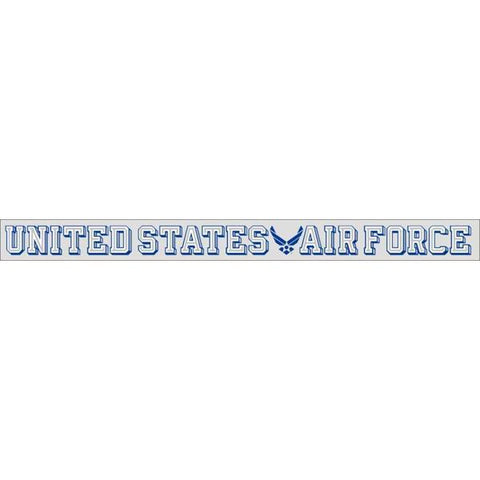 "United States Air Force with Wing Symbol 18""x1.5"" Window Strip"