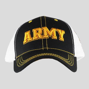 United States Army Black & White Mesh Cap