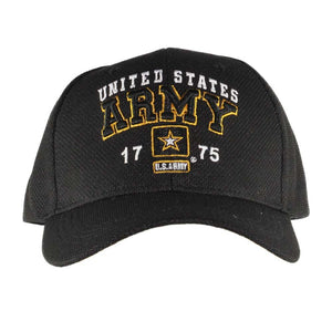 United States Army Performance Black Cap