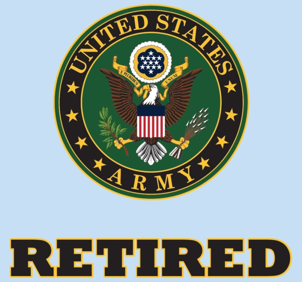 United States Army Retired Crest 4.25