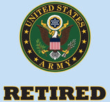 "United States Army Retired Crest 4.25""x4.25"" Decal"