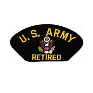 United States Army Retired Insignia Black Patch-Military Republic