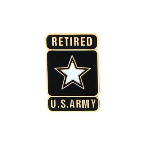 United States Army Retired with Star Insignia Pin