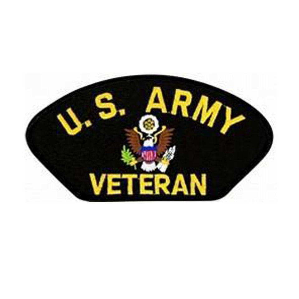 United States Army Veteran Insignia Black Patch-Military Republic