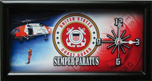 United States Coast Guard License Plate Clock