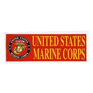 "United States Marine Corps 3""x9"" Bumper Sticker-Military Republic"