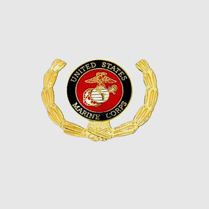 United States Marine Corps Insignia with Wreath Pin - 1 1/8 inch