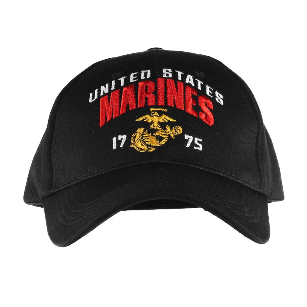 United States Marines Corps Black Performance Cap
