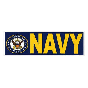 "United States Navy 3""x9"" Bumper Sticker-Military Republic"