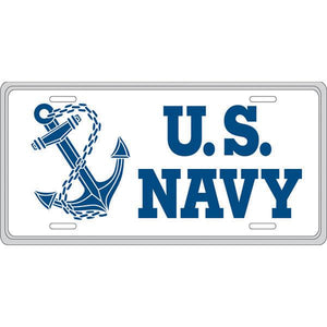 United States Navy with Anchor Painted License Plate