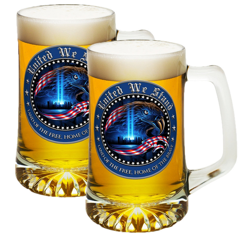 United We Stand, Land Of The Free - Home Of The Brave Tankard-Claris Deals