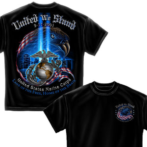United We Stand Marine Corps T-Shirt-Military Republic