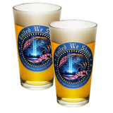 United We Stand Pint Glasses-Military Republic