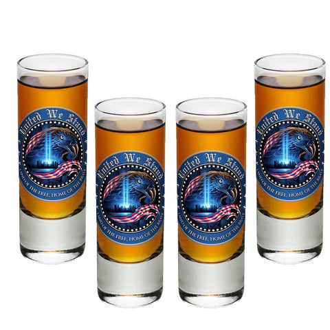 United We Stand Shot Glasses-Military Republic