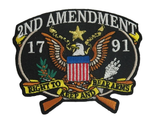 US 2nd Amendment 1791 Patch- 3 1/4