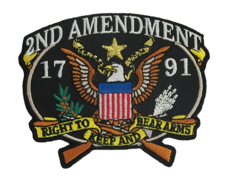 US 2nd Amendment 1791 Patch- 3 1/4""