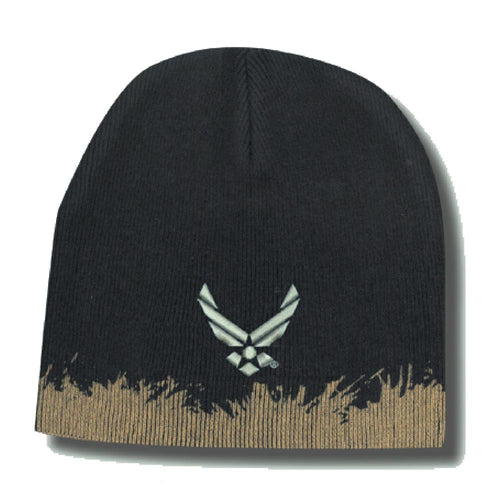 U.S. Air Force Wings Logo Distressed Knit Skull Cap