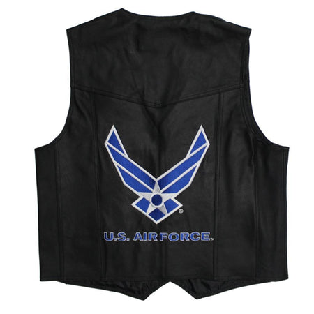 U.S. Air Force Leather Vest-Military Republic