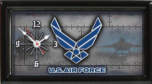 US Air Force License Plate Clock