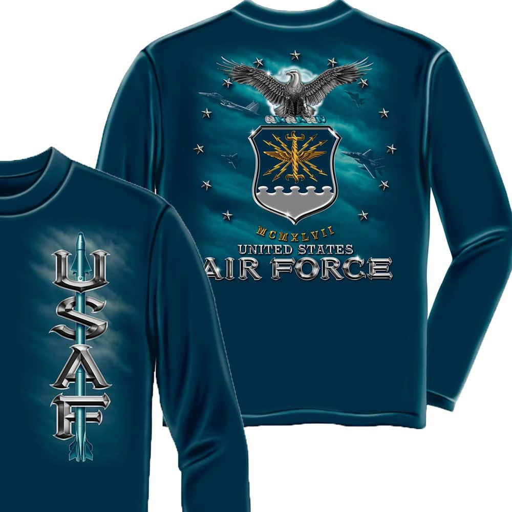 US Air Force Missle Long Sleeve Shirt-Military Republic