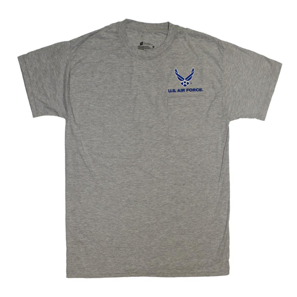 U.S. Air Force Pocket T-Shirt - Heather-Military Republic