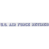 "U.S. Air Force Retired 23.5""x1.75"" Window Strip"