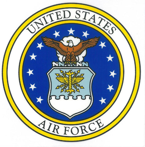 "U.S Air Force  Seal 4x4"" Decal"