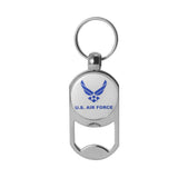 U.S. Air Force Symbol on Zinc Alloy Dog Tag Bottle Opener Key Chain
