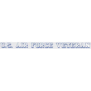 "U.S. Air Force Veteran 18""x1.25"" Window Strip"