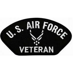 "U.S. Air Force Veteran Symbol Black Patch (4"" inch)"