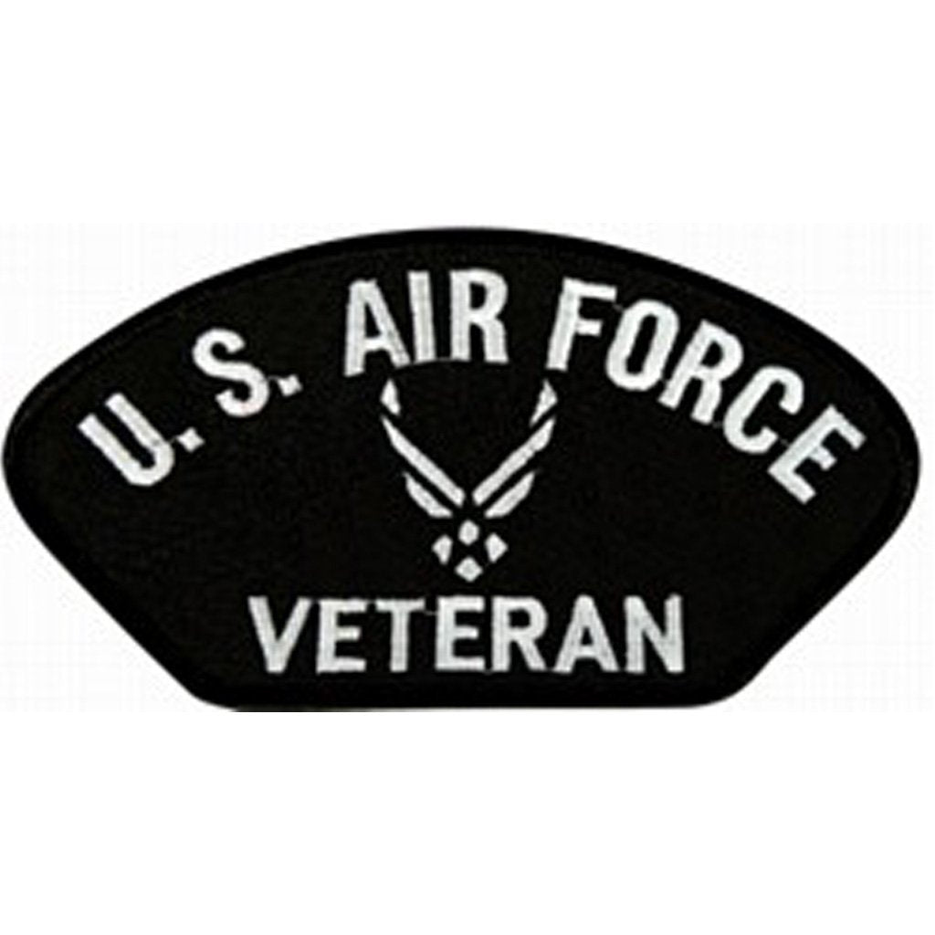 U.S. Air Force Veteran Symbol Black Patch (4