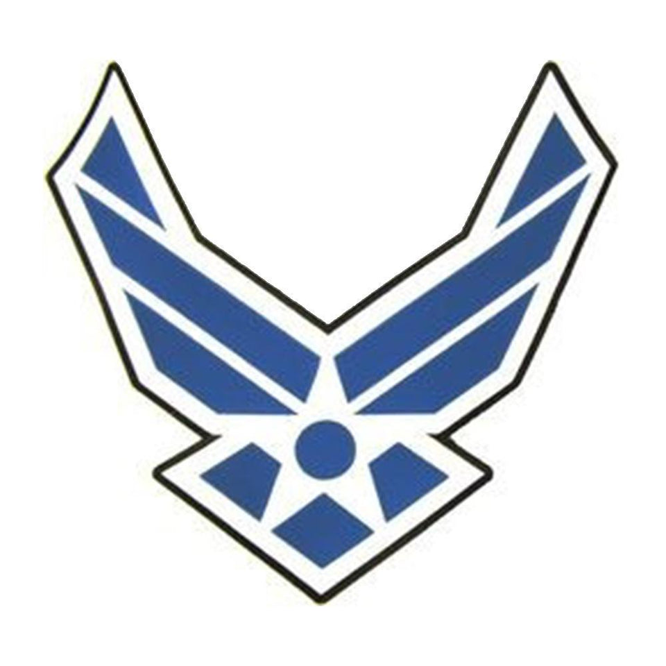 "U.S. Air Force Wings Emblem Stitch on Back Patch (11.5"" x 11.5"")"