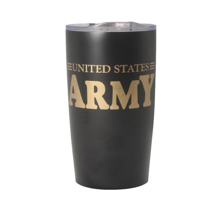 U.S. Army 20oz Vacuum Insulated Black Tumbler