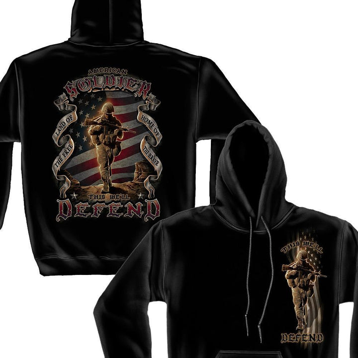 US Army American Soldier Hoodie-Military Republic