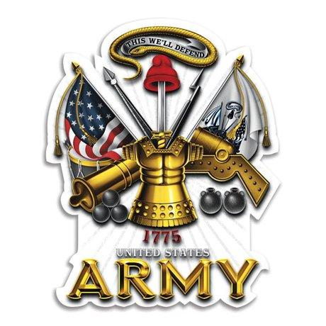 US Army Antique Armor Decal