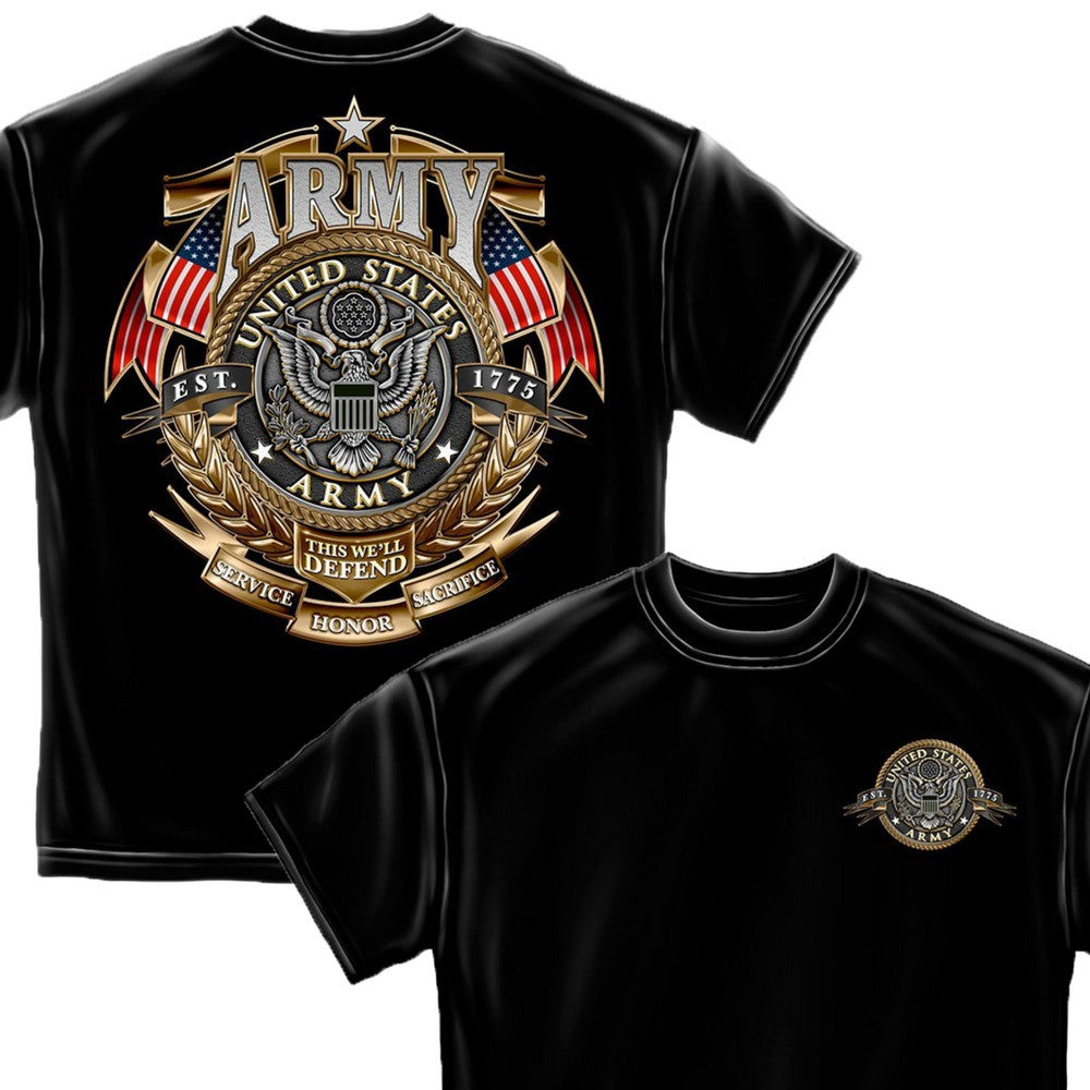 US Army Badge T-Shirt-Military Republic