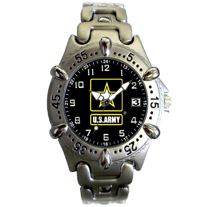 US Army Chrome Brass Metal Watch-Military Republic