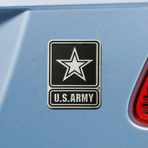 US Army Chrome Metal Auto Emblem-Claris Deals