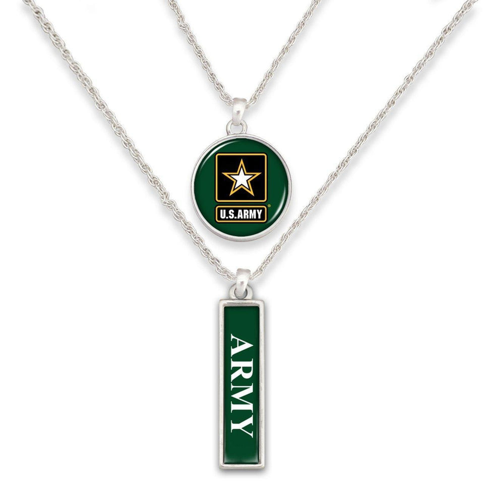 US Army Double Down Necklace-Military Republic