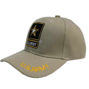 U.S ARMY Embroidery Khaki Cap-Military Republic
