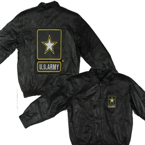 U.S. ARMY Leather Jacket-Military Republic