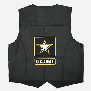 U.S. Army Leather Vest-Military Republic