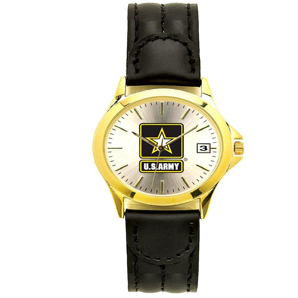 US Army Padded leather strap Watch-Military Republic