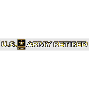 "US Army Retired 14 x 1.75"" Window Strip"