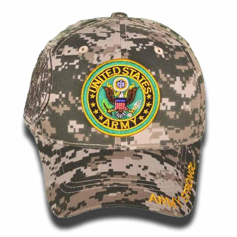 US Army Round Logo w/Shadow & Bays Embroidered Military Hat-Military Republic