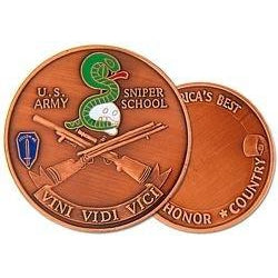United States Army Sniper School Challenge Coin (38MM inch)